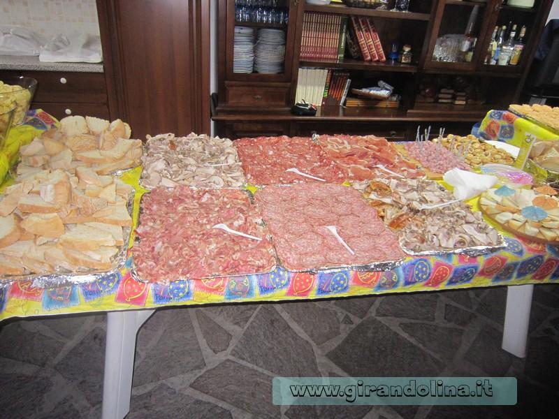 I nostri salumi e il pane toscano ( foto della festa dei 30 anni di Girandolina)