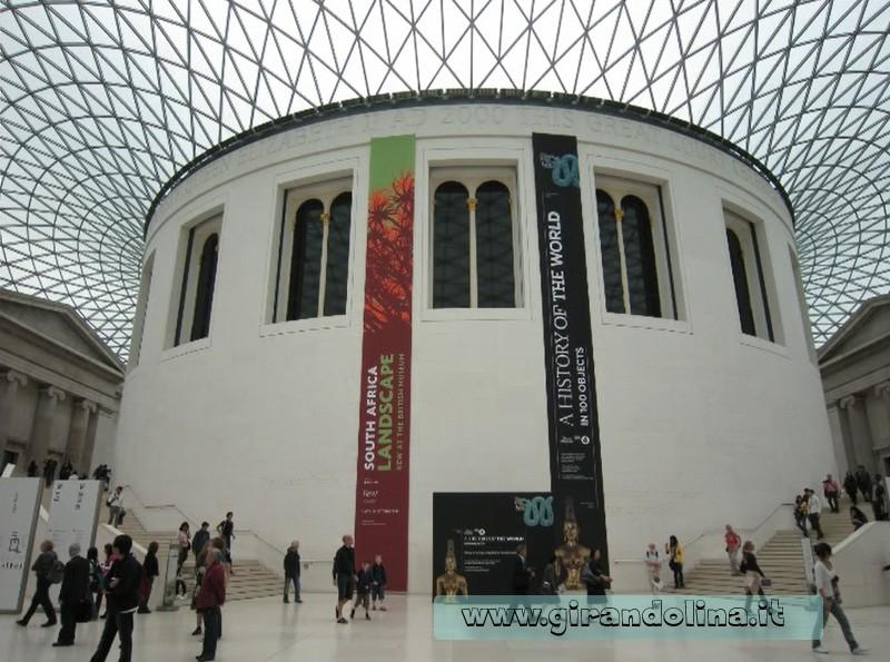 L' entrata del British Museum