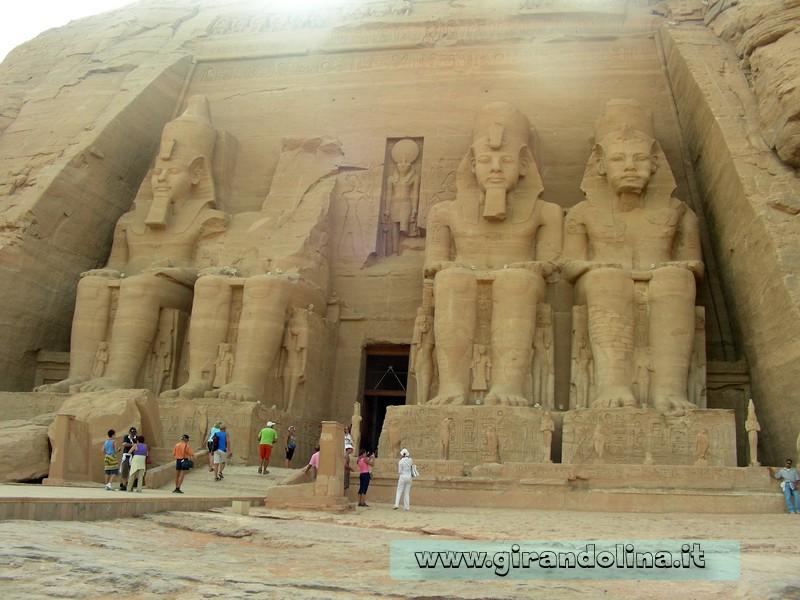 AbuSimbel facciata Egitto