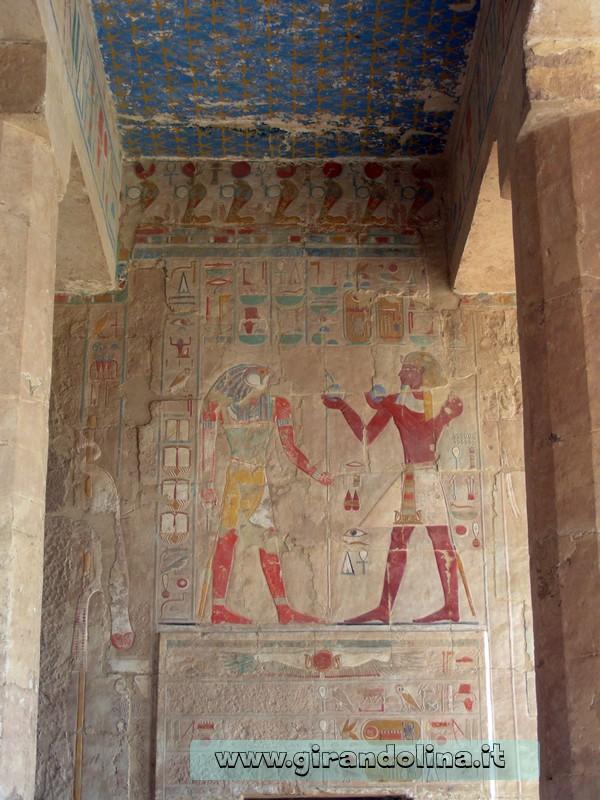Tempio Hatshepsut rilievo Egitto.