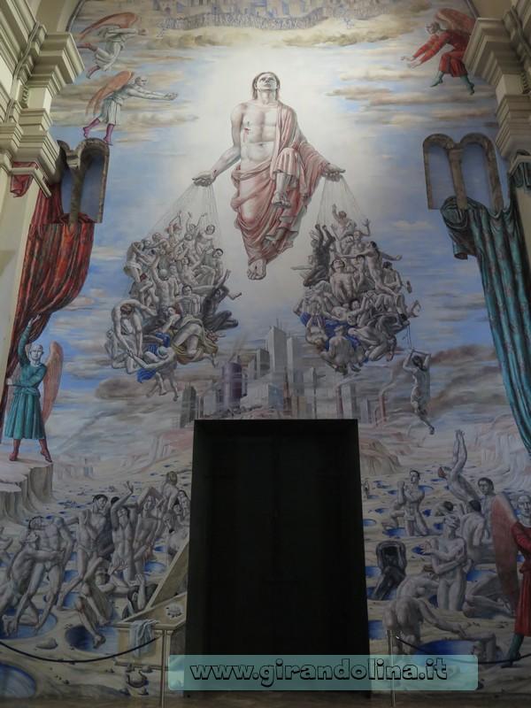 Il dipinto all' interno del Duomo