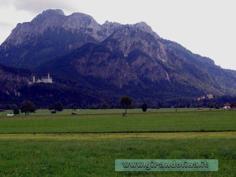 La vallata con i Castelli di Ludwig II