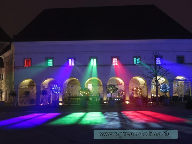 Il Castello di Lubiana illuminato