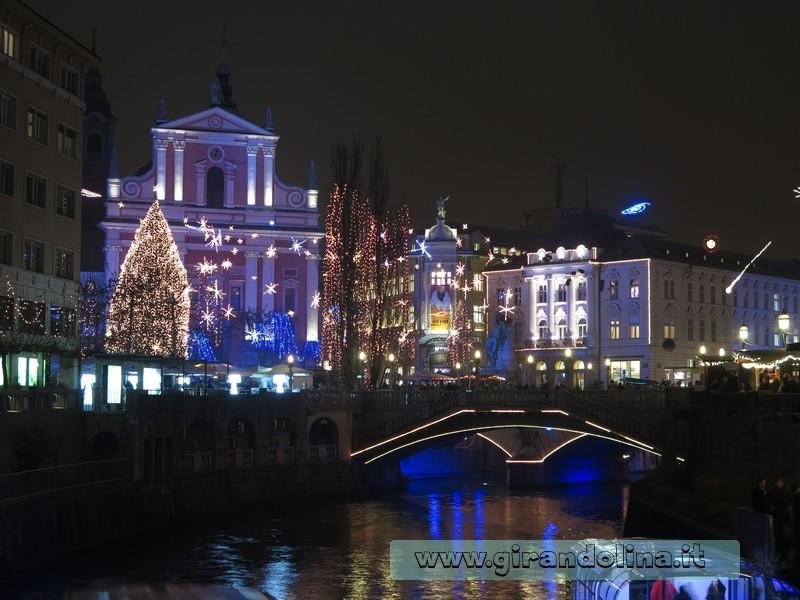 Lubiana, luminarie natalizie