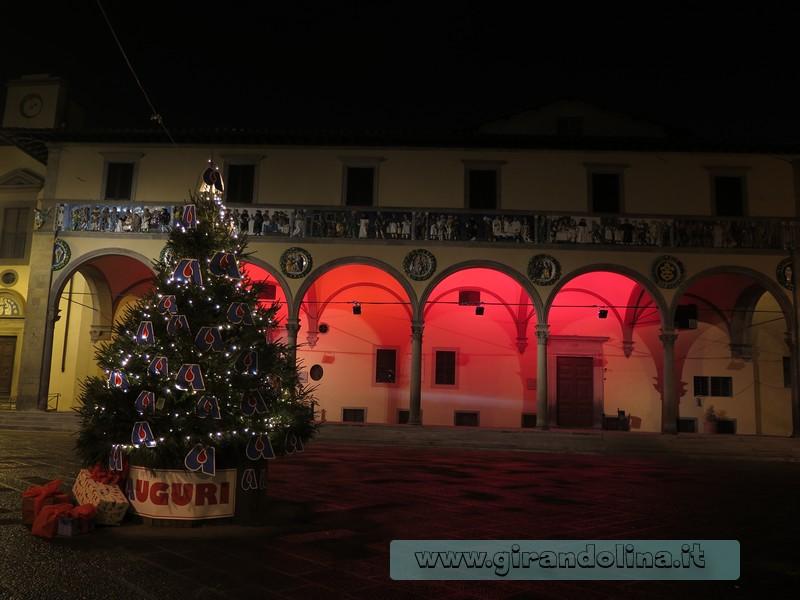 L' Antico Ospedale del Ceppo, illuminato a festa