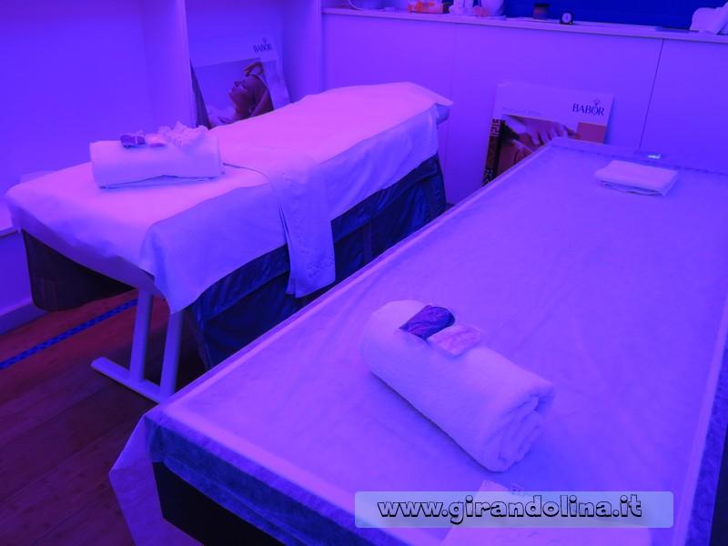 La SPA Suite 62 interno della cabina massaggi
