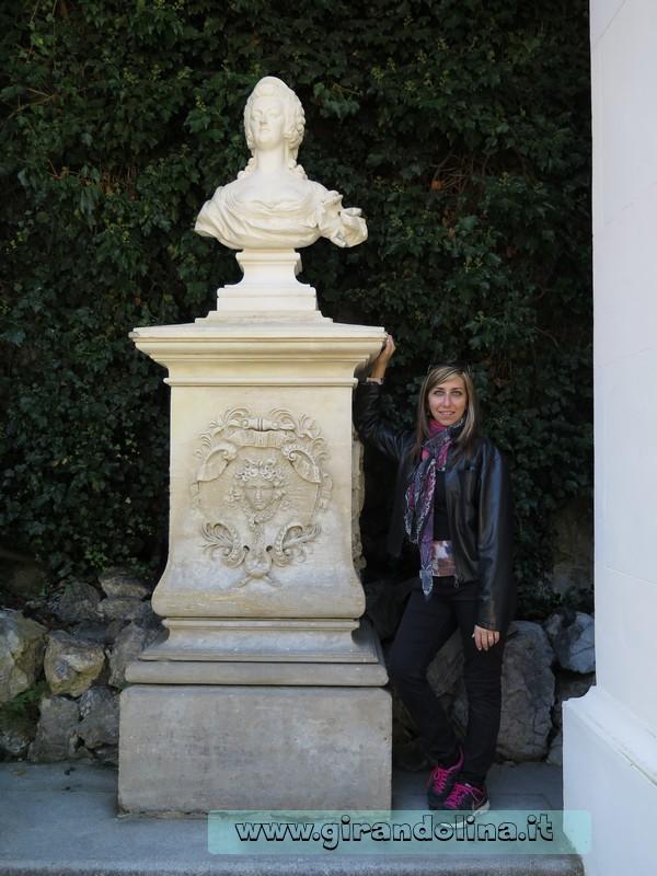 Castello di Linderhof, la statua di Maria Antonietta