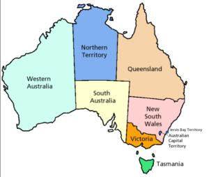 Australia Viaggio di nozze -Gli Stati Australiani
