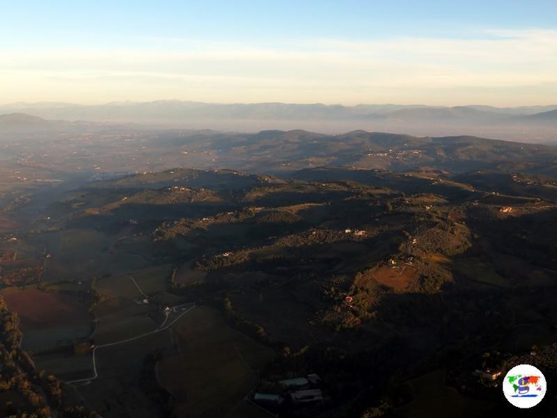I 10 migliori paesaggi toscani- panorama dalla mongolfiera