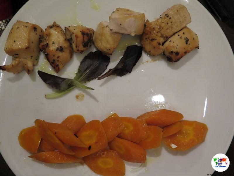 Monferrato dove mangiare, l'Antica Drogheria da Corino,Petto di pollo e verdure ai ferri