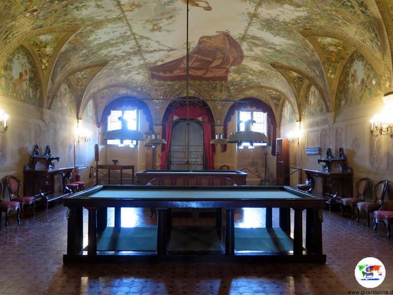 Villa Medicea di Poggio a Caiano , la sala da biliardo