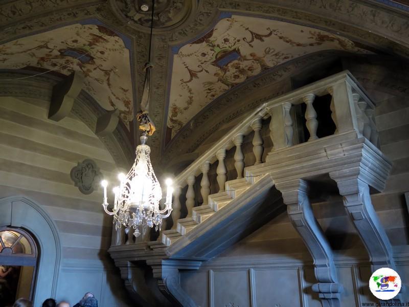 Villa Medicea di Poggio a Caiano , Scalone di Bianca Cappello