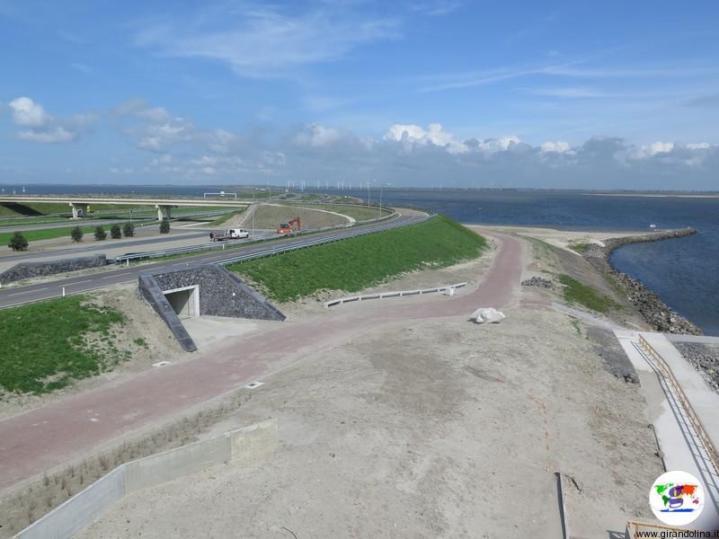 Afsluitdijk Wadden Center,l'IJsselmeer