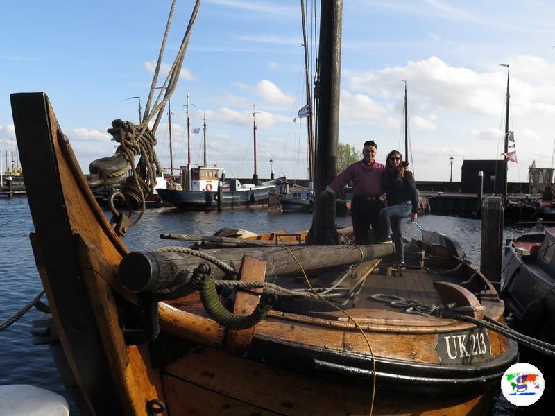 Urk, insieme a Lammer Post sulla sua barca
