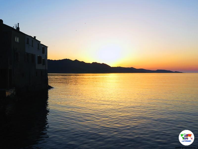 Cap Corse e il tramonto al ristorante La Marinuccia di Saint Florent