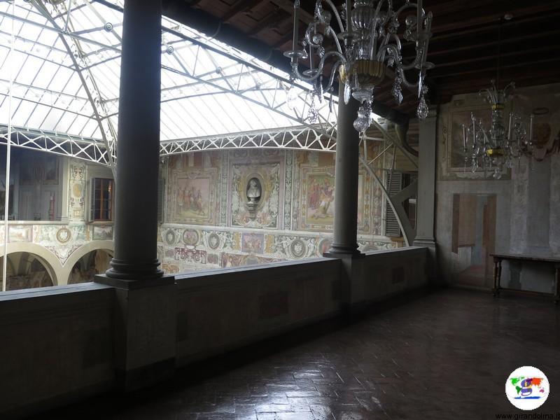 Villa La Petraia, la copertura del cortile interno