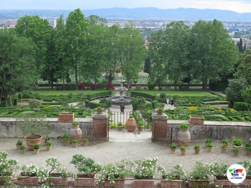 VillaLa Petraia, e i giardini