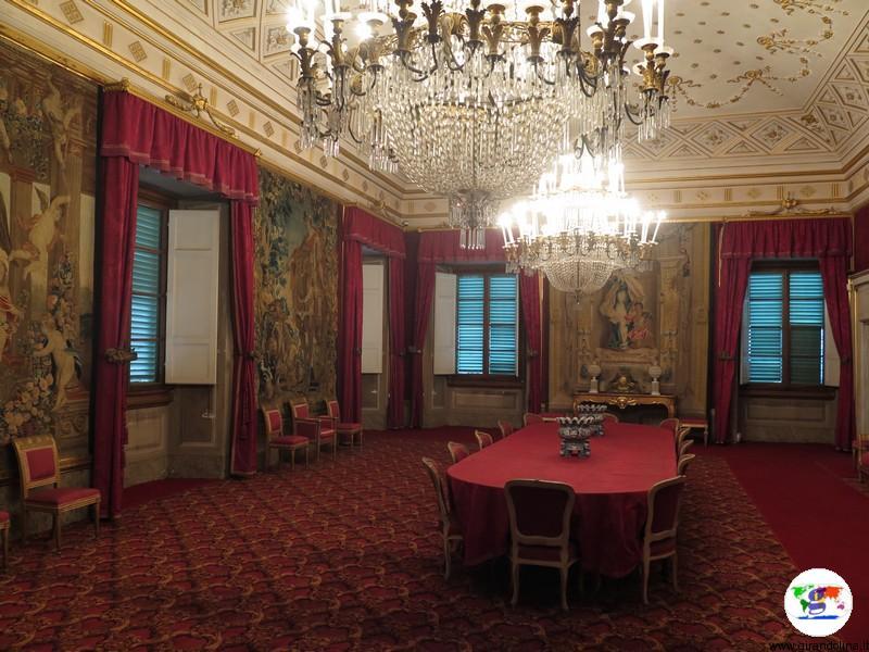 Villa La Petraia, la Sala Rossa