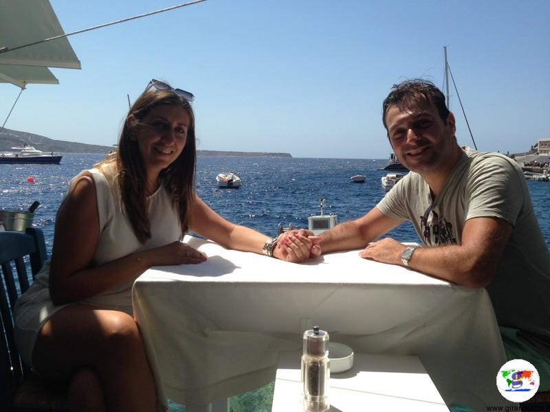 Santorini una settimana - ristorante sul mare