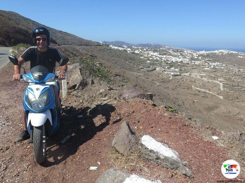 Santorini una settimana - il nostro scooter