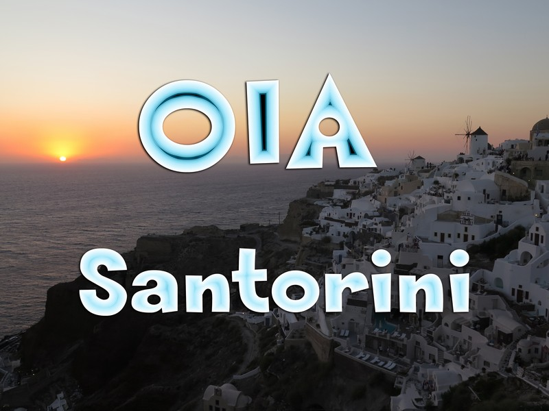 Video del tour nella piccola Oia, la città del tramonto a Santorini