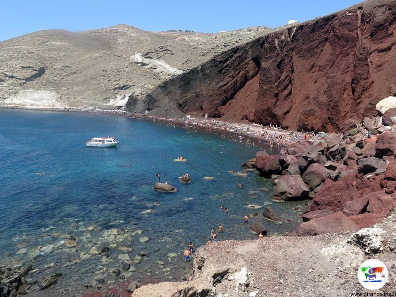 Santorini cosa vedere - Red Beach
