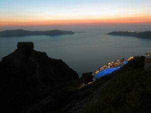 Santorini - tramonto alla Rocca di Skaros
