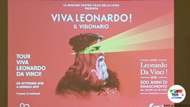 """Viva Leonardo Da Vinci! 500 anni di Rinascimento nel Centre –Val de Loire"""""""