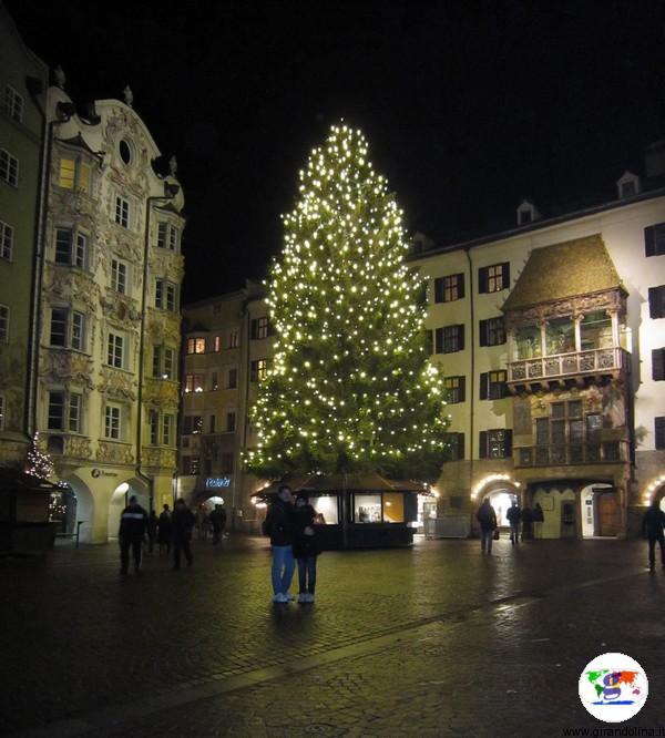 Mercatino di Natale a Innsbruck - il Tettuccio d'Oro