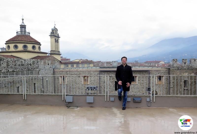 Il Castello dell'Imperatore a Prato il camminamento merlato