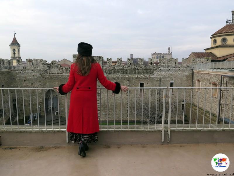 Il Castello dell'Imperatore a Prato , il panorama dal camminamento merlato