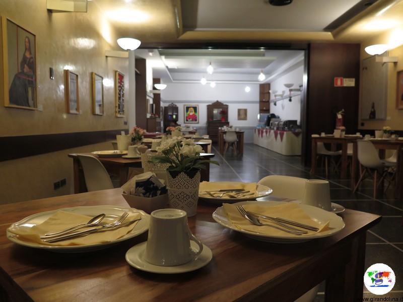 L'Art Hotel Milano Prato, la sala della colazione