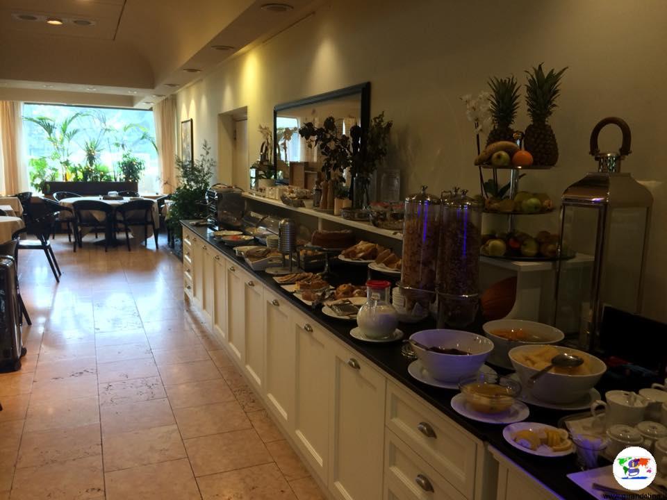 La sala della colazione dell'Art Restaurant