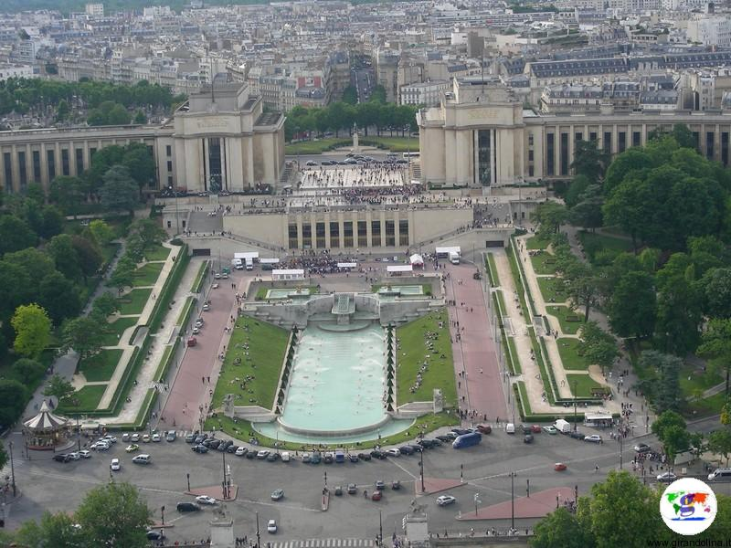 Il panorama visto dalla Torre Eiffel