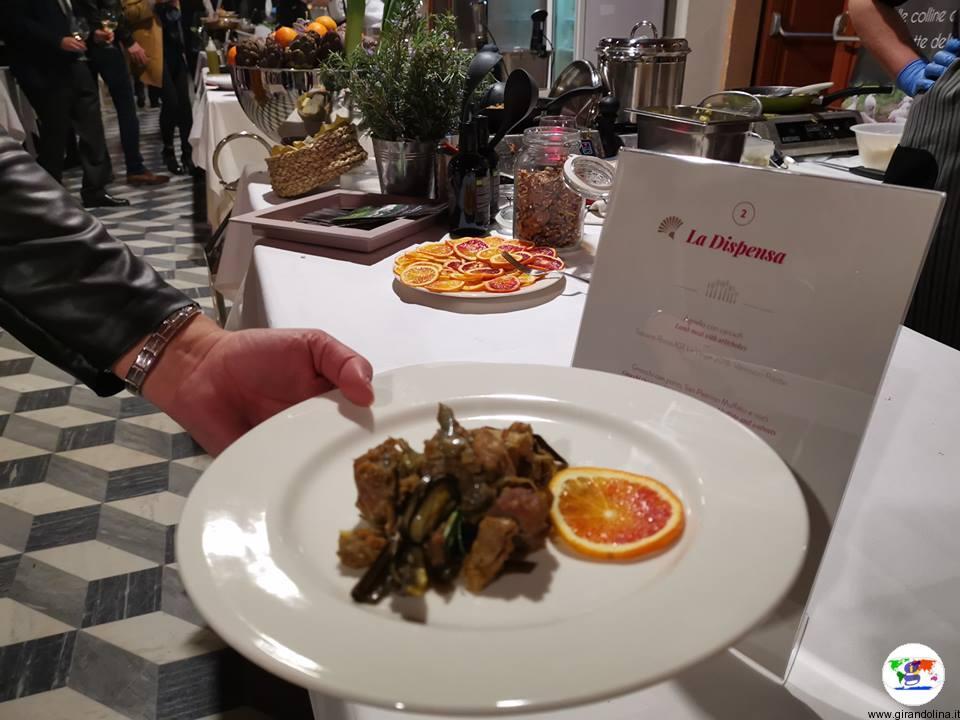 Tasting Montecatini, agnello con carciofi proposti da La Dispensa