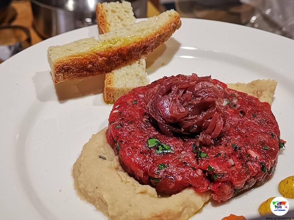 Tasting Montecatini , tartaburger proposto da Osteria il Maialetto
