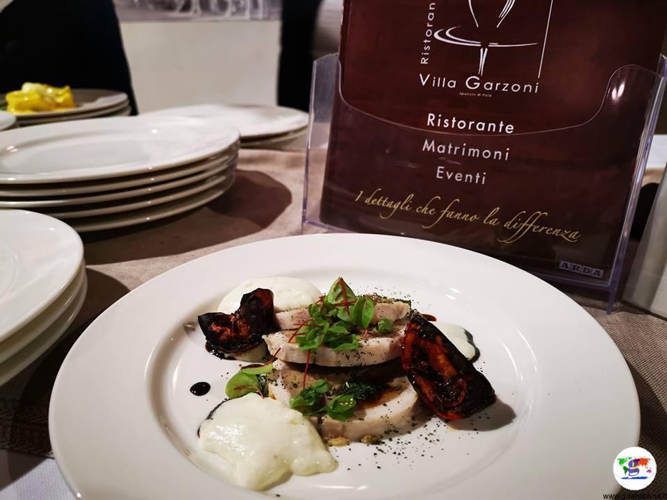 Tasting Montecatini ,rollatina di coniglio farcita alla castagna in crosta di lardo di colonnata proposta da Villa Garzoni