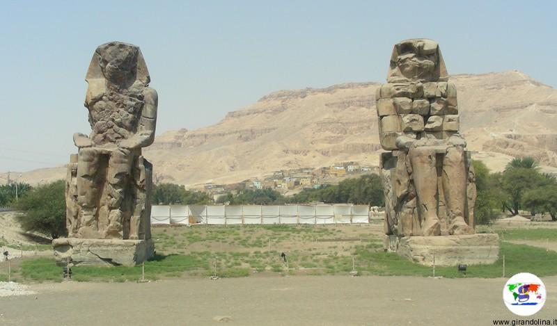 Egitto- Colossi di Memnone