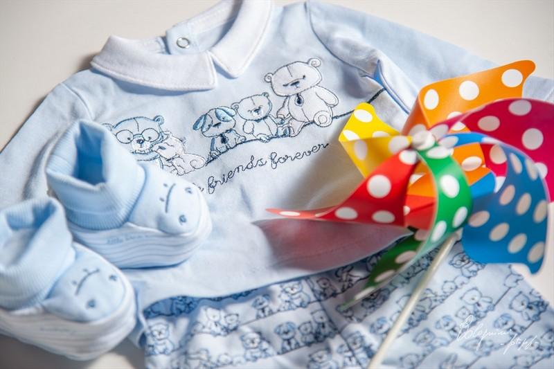 La valigia per il parto - il primo outfit girandolino di Lorenzo