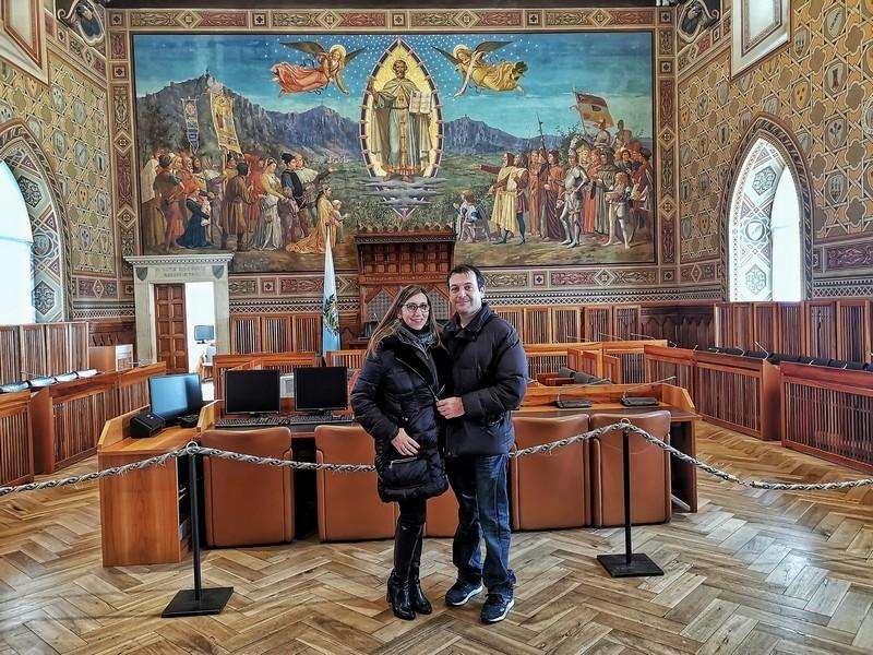 San Marino La Repubblica più antica del mondo- Sala del Consiglio Grande e Generale