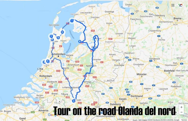 Tour Olanda, l'itinerario