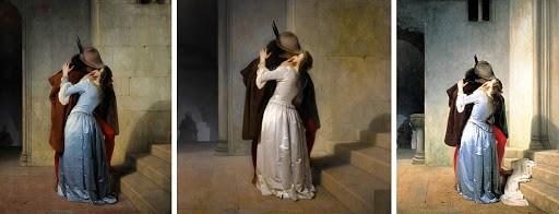 Storie d'amore fiorentine, il famoso bacio