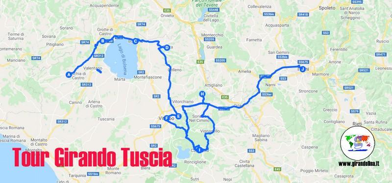 Il nostro tour della Tuscia : Girando Tuscia