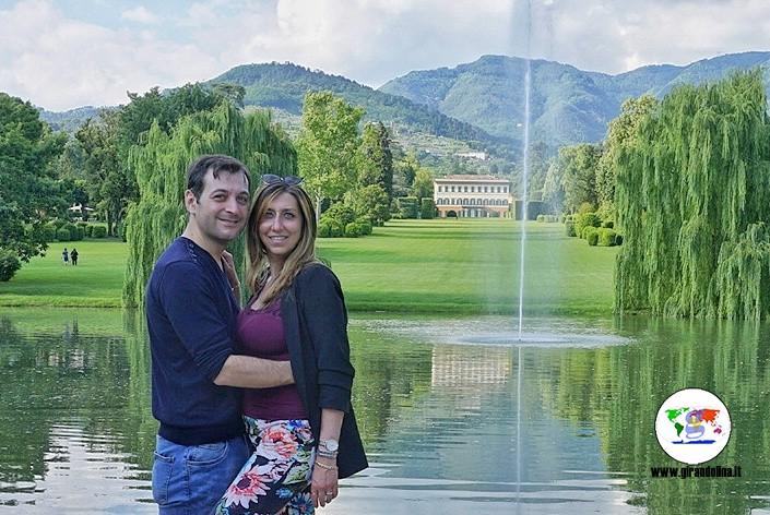 Villa Reale di Marlia,  veduta dal Lago
