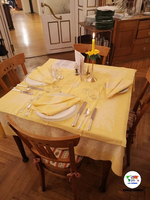 Hotel Westend Merano, l'apparecchiatura dei tavoli