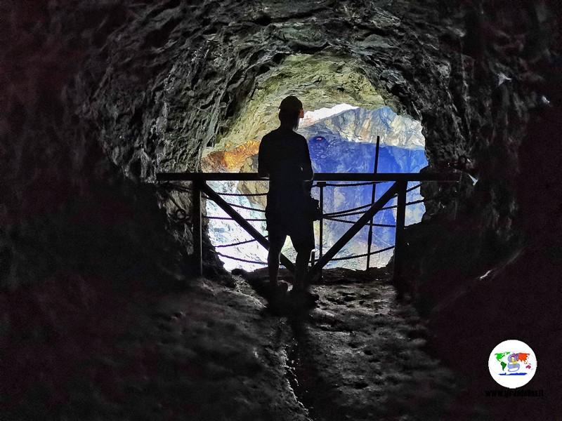 Miniera Monte Calamita, Gallerie del Ginevro