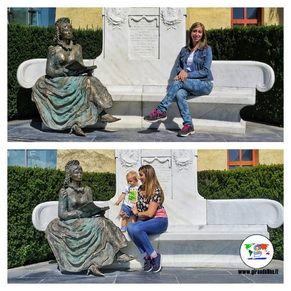Il trono di Sissi nei Giardini di Castel Trauttmansdorff prima e dopo
