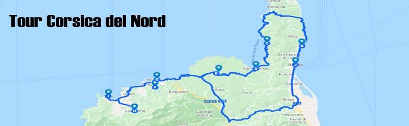 Itinerari  con auto Corsica del Nord da fare in 3 giorni