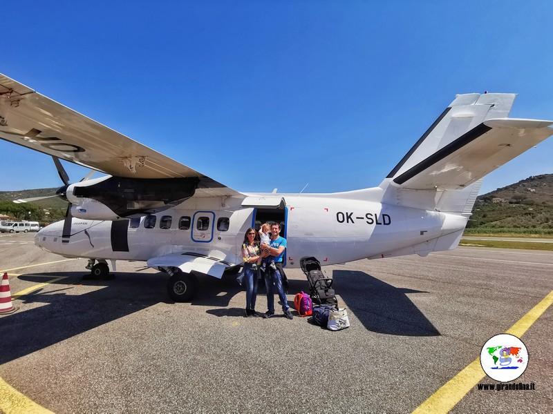 Viaggiare con un neonato in aereo, il primo volo di Lorenzo