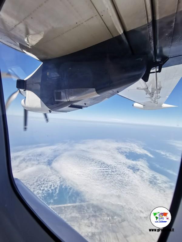 Volare all'elba, il panorama dall'aereo